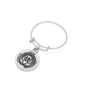 Alex and Ani Claddagh expandable Wire Ring silver